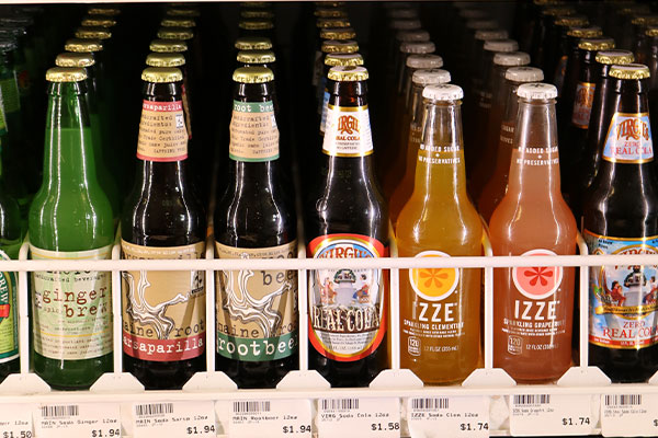 Organic Bottled Sodas at Hoku Foods
