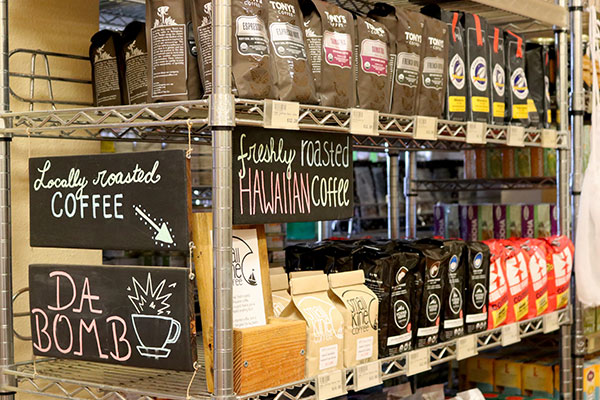 Organic Coffee Selection at Hoku Foods