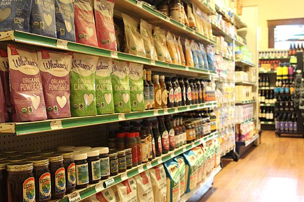 Organic sweetners at Hoku Foods Kapaa