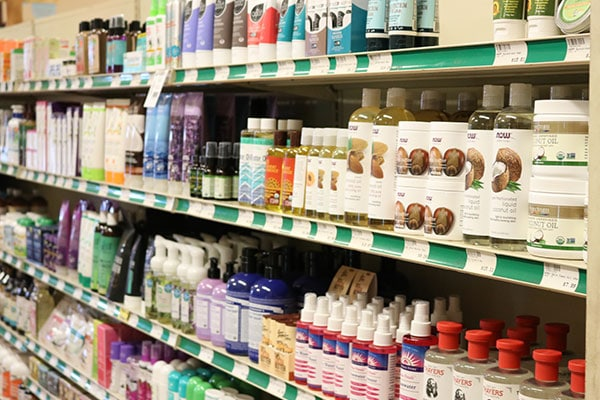 Organic body care at Hoku Foods, Kapaa