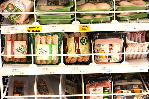 Organic Meat Selection at Hoku Foods